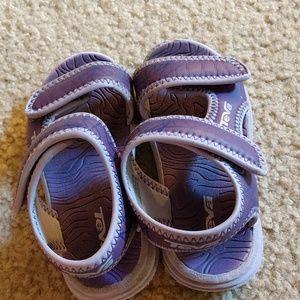 Purple Teva water sandals!